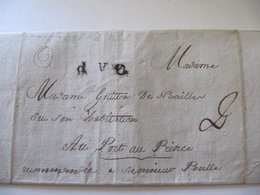 MARCOPHILIE     BORDEAUX  Vers  PORT Au PRINCE  1792 - Postmark Collection (Covers)