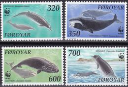 1990, Färöer, 203/06,  MNH **, .Wale Im Nordatlantik. - Isole Faroer