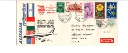 USA VOL INAUGURAL PAR SUPER DC 8 CARAVELLE ALITALIA NEW YORK-TEL AVIV 1960 - Vliegtuigen