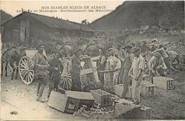 Themes Div-ref CC340- Guerre 1914-18- Chasseurs Alpins - Nos Diables Bleus En Alsace -artillerie De Montagne -munitions - Guerra 1914-18