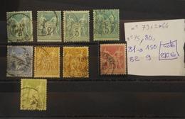 04/09/19-  N°73 ,75;  81 , 82  FORTE COTE 210€ A VOIR!! - 1876-1878 Sage (Type I)