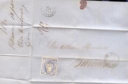 Año 1870 Edifil 107 50m  Sellos Efigie Carta    Matasellos Villanueva Y Geltru De Barcelona Membrete P.Carbonell - 1868-70 Gobierno Provisional