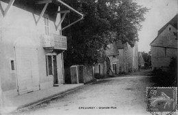 CPA De EPEUGNEY (Doubs) - Grande Rue. Circulée En 1909 - Autres Communes