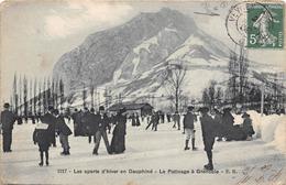 38-GRENOBLE- LE PATINAGE DE GRENOBLE- LES SPORTS D'HIVER EN DAUPHINE - Grenoble