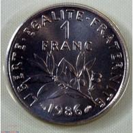 FDC - 1 Franc 1986 Issu Du Coffret Neuve/scellée - H. 1 Franc