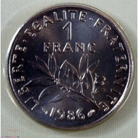 FDC - 1 Franc 1986 Issu Du Coffret Neuve/scellée - France