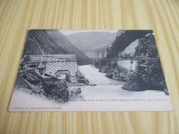 CPA Les Gorges Du Drac (38) Et Le Grand Barrage En Construction. - France