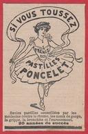 Pastilles Poncelet. Si Vous Toussez Prenez Des Pastilles Poncelet. Danseuse. 1909. - Publicités