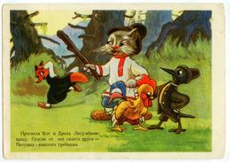 Contes Populaires Russes. Chat, Renard, Merle, Coq-pétoncle Doré. - Fairy Tales, Popular Stories & Legends
