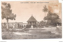 CPA GUYANE FRANCAISE 8 AOUT 1908 EMBARQUEMENT DES RELEGUES RARE BELLE CARTE !! - Other