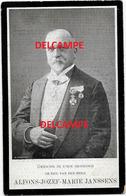 Bidprentje Alfons Janssens ST Niklaas Pauselijke ZOUAAF VOLKSVERTEGENWOORDIGER En Overleden Te Lucerne 1906 ZWITSERLAND - Images Religieuses