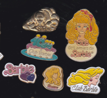 59706-lot De 6  Pin's.poupée Barbie..jeux.. - Jeux