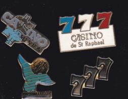 59708-lot De 4  Pin's.Casino..jeux... - Jeux