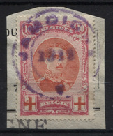N°133 Obl. De Fortune Violette JAMOIGNE 1919 Sur Fragment; - 1918 Rotes Kreuz