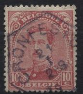 N°138 Obl. Hexagonale Chemins De Fer Spoorweg CRONFESTU. R. - 1915-1920 Albert I