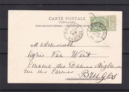 N° 56 / CP De HEYST SUR MER Vers Bruges - 1893-1907 Coat Of Arms