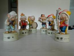 Lot De 6 Statuettes - Statuette - Cochons - Cochon - Pig - 10 Th Asian Games Seoul 1986 - J.O. 1988 - Korea - Asie - Non Classés