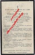 Guerre 1914-mort  Pour La France En 1914 Né Bailleul (59)  Et  Mort Boureilles Et Neutilly- Omer FAGOO - Décès