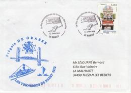 Les Tonnerres De Brest Frégate DE GRASSE - Cachet Illustré Fête Internationale Mer Et Marins 13/7/2012 - Marcophilie (Lettres)