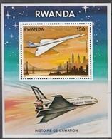 Rwanda Ruanda 1978 OCBn° Bloc 80 *** MNH Cote 6,00 Euro Aviation Vliegtuigen Airplanes Concorde - Rwanda