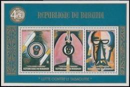 Burundi 1990 OCBn° Bloc 125 *** MNH Cote 40 Euro Anti Tabak Tabagisme - Burundi