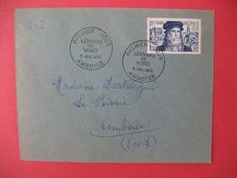 FDC France 1952 N° 929  - Léonard De Vinci Cachet  Ambroise - 1950-1959