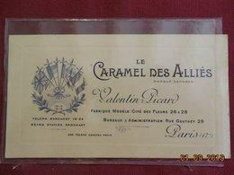 """Carte Publicitaire - Paris 17e - """"Le Caramel Des Alliés"""" - Valentin Picard - 29, Rue Gauthey - Cartes"""