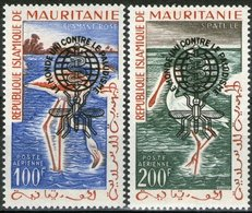 Mauritanie 1962 Yvertn° LP PA 20 C-D *** MNH Cote 15 Euro Faune Oiseaux Vogels Birds - Mauritanie (1960-...)