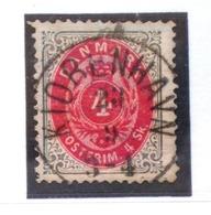 DINAMARCA - IVERT Nº 18 - USADO - 1864-04 (Christian IX)