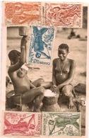 OUBANGUI  (A E F)     Préparation Du Manioc - Centrafricaine (République)