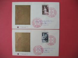 FDC  (2)   France 1953 N° 966 Et 967  - La Croix Rouge Et La Poste  Cachet Le Havre - FDC
