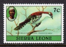 SIERRA LEONE - 1980 7c DIDRIC CUCKOO BIRD STAMP NO IMPRINT DATE FINE MNH ** SG 626A - Sierra Leone (1961-...)