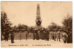 STRASBOURG Le 14 Juillet 1919 - Le Monument Aux Morts - Straatsburg
