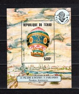 TCHAD BLOC N° 36  NEUF SANS CHARNIERE  COTE  6.00€  BALLON  MONTGOLFIERE - Ciad (1960-...)