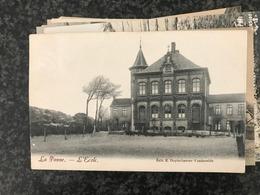 LA PANNE - De Panne  -l'Ecole School - Edit. E. Duytschaever-Vandevelde - Gelopen 1906 - De Panne