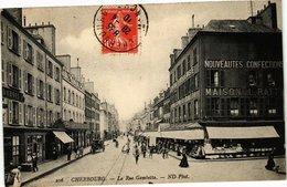 CPA CHERBOURG - La Rue Gambetta (128204) - Cherbourg
