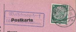 Deutsches Reich Karte Mit Landpoststempel Welschneudorf über Montabauer 1934 Lk Westerwaldkreis - Briefe U. Dokumente