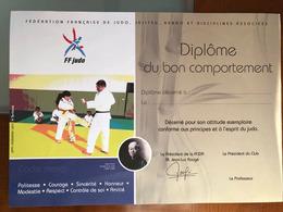 Diplome Judo De La FFJDA - Sports De Combat
