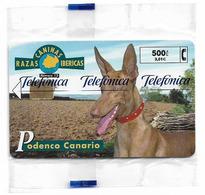 Spain - Telefónica - Razas Caninas Ibericas - Podenco Canario Dog - P-453 - 02.2001, 500PTA, 4.400ex, NSB - España