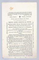 DOODSPRENTJE ADEL/NOBLESSE SOEUR M.A. JOSEPH DE JESUS BARONNE VAN DER STRATEN WAILLET ° WAILLET 1834 + MALINES 1895 - Images Religieuses