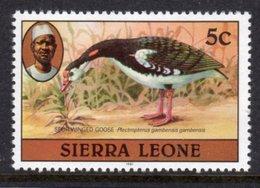 SIERRA LEONE - 1981 5c SPUR-WINGED GOOSE BIRD STAMP WITH IMPRINT DATE FINE MNH ** SG 625B - Sierra Leone (1961-...)