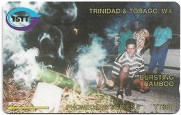 Trinidad & Tobago - TSTT (GPT) - Bursting Bamboo - 98CTTA (Crossed Ø), 1996, Used - Trinidad En Tobago
