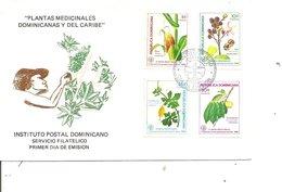 Médecine - Plantes Médicinales ( FDC De Dominicaine De 1986 à Voir) - Medicina