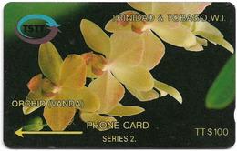 Trinidad & Tobago - TSTT (GPT) - Orchid Vanda Flower - 6CTTD - 1993, 30.000ex, Used - Trinidad En Tobago