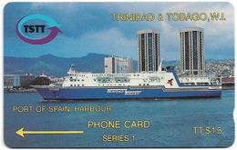 Trinidad & Tobago - TSTT (GPT) - Ship In Port Of Spain - 2CCTA (error) - 1992, Used - Trinité & Tobago