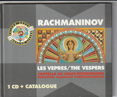 CD - RACHMANINOV - LES VEPRES / THE VESPERS - CAPPELLA DE SAINT-PETERSBOURG - Klassik