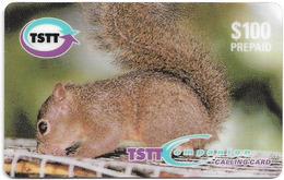 Trinidad & Tobago - TSTT (Prepaid) - Little Squirrel, 100$, 1999, 135.000ex, Used - Trinité & Tobago