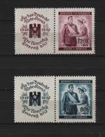 BOEMIA & MORAVIA 1940, Red Cross 2v+tabs Mi. 53/54 Serie Cpl. 2v. Nuovi** - Occupation 1938-45