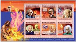 Guinée  2011 Nobel  Albert EINSTEIN Prehistory Prehistoire Homme De Neanderthal  MNH - Nobel Prize Laureates