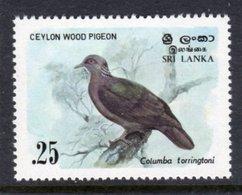 SRI LANKA - 1983 25c WOOD PIGEON BIRD STAMP FINE MNH ** SG 827 - Sri Lanka (Ceylon) (1948-...)
